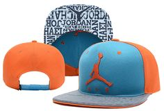 550c66e0da9 Air Jordan Orange Blue Snapback Brim Reflected Light Street Brands