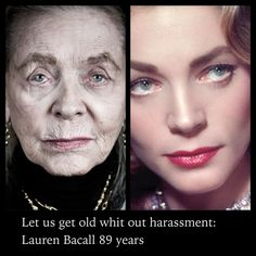 "Well, someone can't spell ""WITH"" but that isn't the point, is it :o)  BEAUTIFUL woman:: Laruen Bacall"