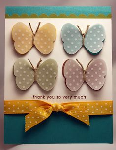 Stampin up butterfly punch