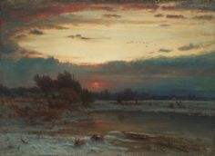 A Winter Sky by George Inness, 1866 | Cleveland Museum of Art, 1927.388