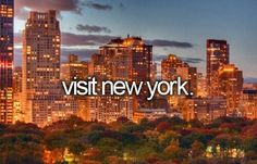 = things I've done! | When your family lives in New York
