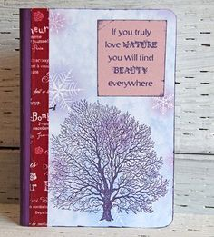 Purple Walnut Tree Journal Nature Notebook with by CarolaBartz #SPSTeam #CYBER15 #CYBERWEEKSALE