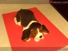 beagle cake tutorial