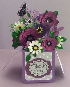 Thank you cards Card In A Box, Pop Up Box Cards, 3d Cards, Your Cards, Card Boxes, Fancy Fold Cards, Folded Cards, Boite Explosive, Exploding Box Card