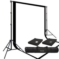 Two Prism 10x20' 100% Cotton Muslin Backdrops and The Ravelli Full Size 10x12' Background Stand Set $156.39