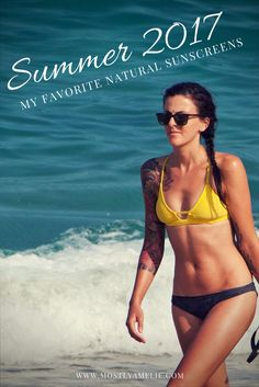My favourite natural sunscreens this Summer!
