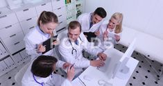 Team of Doctors Talking Collaborate Medical Expertise Activity in Hospital Room Stock Footage, Hospital Room, Stock Video, Doctors, Stock Footage, Collaboration, Photo Shoot, Medical, Activities, Medical Doctor