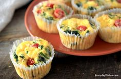 We know that your typical muffins can be loaded with sugar, so instead be creative and make egg muffins! You can substitute different vegetables and experiment between egg whites and whole eggs.  Start your morning with this Spinach and Egg Muffin!