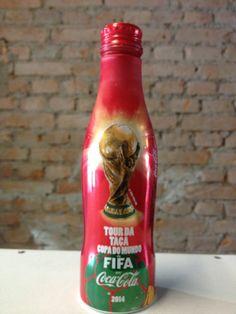 Coca Cola Aluminum Bottle Brazil World Cup 2014 RARE