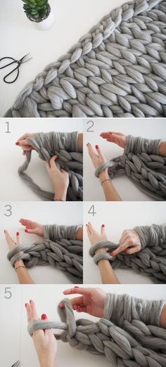 DIY Knit a chunky blanket from wool roving 17 Cozy DIY Projects to Keep You Warm This gemütliche DIY-Projekte, um Sie diesen Winter warm zu halten - Diy and Crafts YazYaz.Want to stay warm this winter? Try making some of these easy DIY proj Pot Mason Diy, Mason Jar Crafts, Crochet Projects, Sewing Projects, Roving Wool, Wool Rug, Chunky Blanket, Ideias Diy, Knitted Blankets