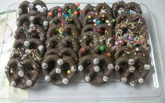 Chocolate Covered Pretzels 24count   3in pretzels by AmedeosBakery, $29.99