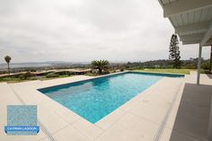 This stylish hill top pool in San Diego, CA is finished with our smooth and elegant Hydrazzo, Cayman Lagoon.   Pool Design by Mission Pools www.missionpools.com   Plastered by Gardner Pool Plastering www.gardnerpoolplastering.com   www.clindustries.com