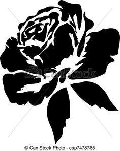Wektor - czarnoskóry, Róże - zbiory ilustracji, ilustracje royalty free, zbiory ikon klipart, zbiór ikon klipart, logo, sztuka, obrazy EPS, obrazki, grafika, grafik, rysunki, rysunek, obrazy wektorowe, projekt graficzny, EPS wektor graficzny