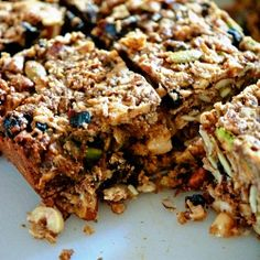 "A homemade granola bar to tuck into your child's lunch for a delicious ""made with love"" snack."