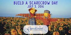 Build a Scarecrow Day! You could build a scarecrow, or you could simply browse our site for amazing gift ideas! Creating memories that count with Goodcount!