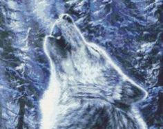 Two Grey Wolves Counted Cross Stitch Pattern by InstantCrossStitch