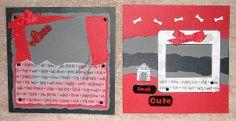 #papercraft #scrapbook #minialbum: Dog Album - Page 10-11 (made by Stephanie Hackney/PaperCrafter's Corner)