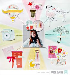 #papercrafting #scrapbook #layout - The One with the American Crafts DIE CUTS Layout
