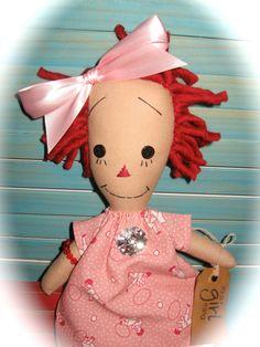 Primitive Raggedy Doll Vintage Look Dress by tagalongsprimitives