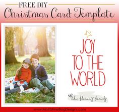 Christmas Card Templates (free download) | Free christmas card ...