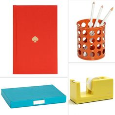 Office accessories in different colors of the rainbow!