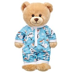 Christmas for Hayes - Teddy Bear + $12.50 Disney's Frozen Fever Olaf PJs for her Bear | Build-A-Bear Workshop