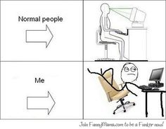 Funny pictures about Normal People vs. Oh, and cool pics about Normal People vs. Also, Normal People vs. Me photos. Rage Comics, Funny Comics, Derp Comics, Funny Images, Funny Pictures, Troll Face, Pose, Used Computers, Normal People