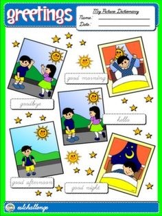 #GREETINGS - PICTURE DICTIONARY