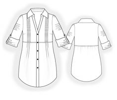 Tunic - Sewing Pattern #4058 - $2.49 (Enter your measurements for a custom-size pattern!)