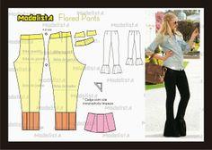 ModelistA: A calça da foto é uma legging.. e do desenho base ...
