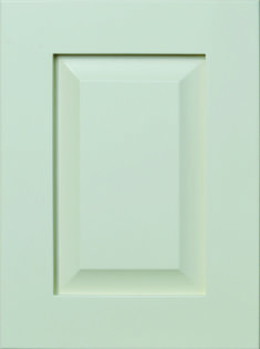 """Maven Raised Panel Door  Available Material: MDF Color Shown: Almond Paint Available in All Outside Profiles - Shown with 18"""" Roundover Outside Profile Raised Panel Doors, Face Framing, Custom Cabinetry, Cabinet Doors, Color Show, Almond, Profile, Paint, Contemporary"""