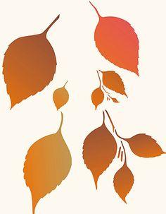 Leaf Stencils Large Leaves Stencil Falling Birch Leaves