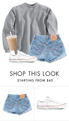 """""""I want it to get chillier so I can wear this outfit"""" by aweaver-2 on Polyvore featuring Levi's and Converse"""