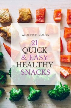 21 Healthy Snacks to Eat on the Go! Conquer meal prep once and for all. Snacks are an important part of staving off the hangries and staying on track! Check out these meal prep snacks!