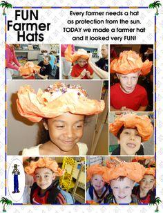 Farmer hats Letter J, Farmer, Kindergarten, Hats, Fun, Fictional Characters, Hat, Farmers, Kindergartens