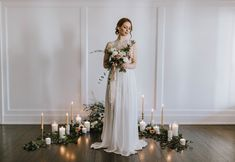 Bride Holding bouquet, candle lit ceremony, bride with red hair, Wedding Ceremony Inspiration Bride Portrait, Wedding Portraits, Wedding Ceremony, Wedding Arches, Award Winning Photography, Victoria Wedding, Maternity Photographer, Portrait Inspiration, Myrtle