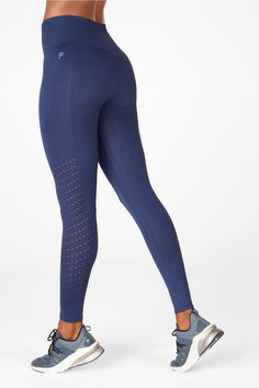 Sync High-Waisted Perforated 7/8 - New Members Get 2 for $24! Victoria Harbour, Sweat It Out, Hip Bones, M Color, Really Cool Stuff, Snug, Leggings, Hoodies, Studio