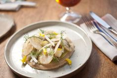 Recipe: Deluxe Ployes With Celery-Root Salad and Pickled Mackerel