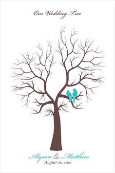 Wedding Guestbook alternative Thumbprints Tree di fancyprints