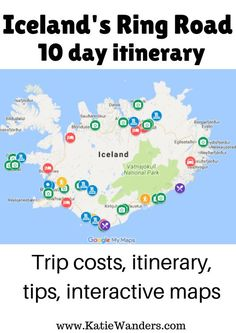A 10 day itinerary around Iceland's Ring Road! Including day by day costs, tips, and an interactive map.