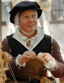 The picture is from a great article called 'COSTUMING FOR THE LOWER AND MIDDLE CLASSES Elizabethan England 1570-1580' Compiled by Claudia Laughter and Rydell Downward.
