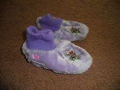RARE Kids Powerpuff Girls PPG Purple Warm Soft Pair Slippers M 7 8 Medium | eBay