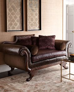 Old Hickory Tannery Imperial Leather Settee