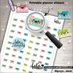 Credit Card Stickers, Printable Planner Stickers, Bill Payment, Bill Due, Payday, Money, Erin Condren, Kawaii Stickers, Planner Accessories