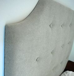 DIY Tufted Headboard - step by step, doing it.