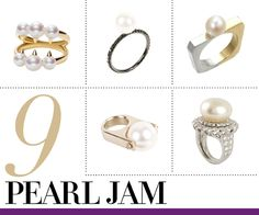 Put a Ring On It: Jewelry for Every Finger Pearl Rings, Pearl Jam, Pearl Jewelry, Look Fashion, Finger, Jewelry Accessories, Wisdom, Jewellery, Jewels