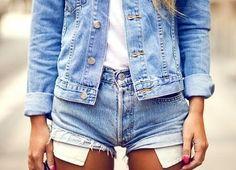 Denim Shorts and Denim Jacket