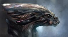 Greys Alien Bust - by DanLuVisiArt