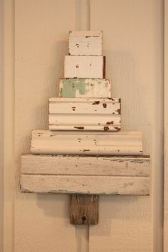 shabby chic reclaimed wood Christmas tree by mysweetsavannah, $28.00