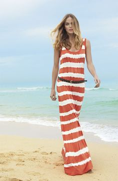 Calvin Klein Tie Dye Maxi Dress - not sure how this would look without the belt though...